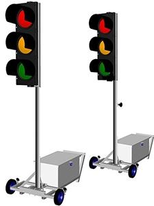 Mobilní semaforová souprava  LED
