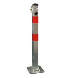 Parkovací sloupek sklopný zinkovaný se zámkem FAB