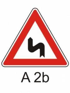 A 2b - dvojitá zatáčka první vlevo