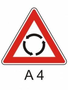 A 4 - pozor kruhový objezd