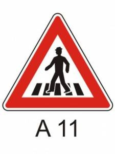 A 11 - přechod pro chodce
