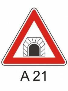 A 21 - pozor, tunel