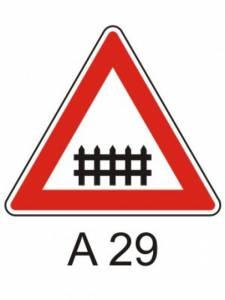 A 29 - železniční přejezd