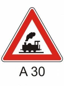 A 30 - železniční přejezd bez závor