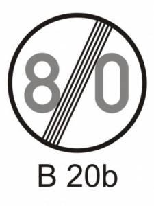 B 20b - nejvyšší dovolená rychlost - konec