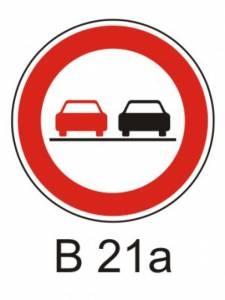 B 21a - zákaz předjíždění