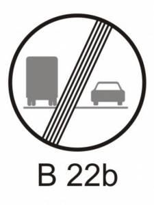 B 22b - zákaz předjíždění pro nákladní automobily - konec