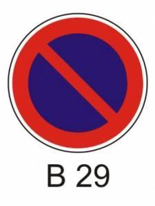 B 29 - zákaz stání
