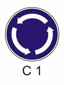 C 1 - kruhový objezd