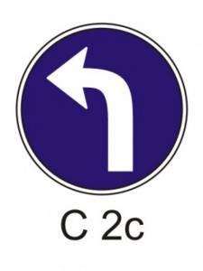 C 2c - přikázaný směr jízdy vlevo