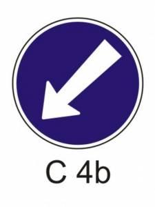 C 4b - přikázaný směr objíždění vlevo