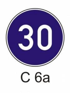 C 6a - nejnižší dovolená rychlost
