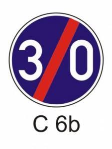 C 6b - nejnižší dovolená rychlost - konec