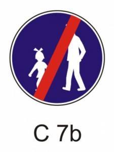 C 7b - stezka pro chodce - konec
