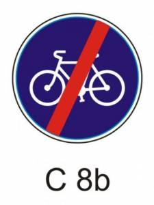C 8b - stezka pro cyklisty - konec