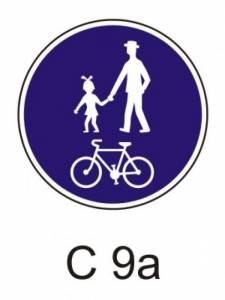 C 9a - stezka pro chodce a cyklisty