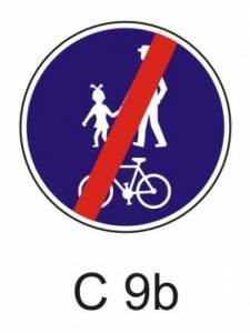 C 9b - stezka pro chodce a cyklisty - konec