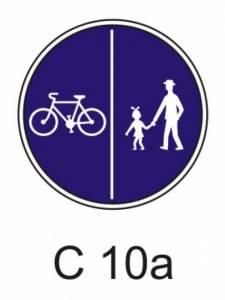 C 10a - stezka pro chodce a cyklisty