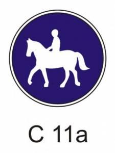 C 11a - stezka pro jezdce na zvířeti