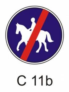 C 11b - stezka pro jezdce na zvířeti - konec