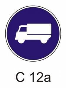 C 12a - přikázaný jízdní pruh