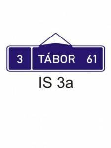 IS 3a - směrová tabule (s jedním cílem)