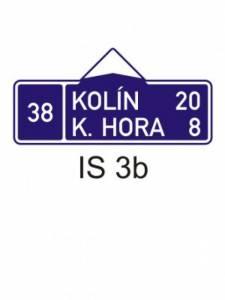 IS 3b - směrová tabule (se dvěma cíli)
