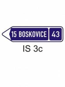 IS 3c - směrová tabule (s jedním cílem)