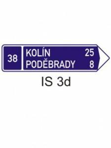 IS 3d - směrová tabule (se dvěma cíli)