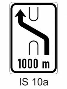 IS 10a - návěst změny směru jízdy