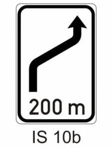 IS 10b - návěst změny směru jízdy