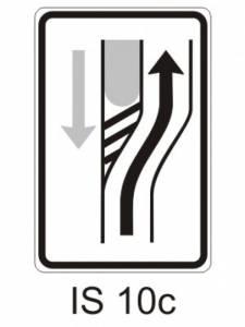 IS 10c - návěst změny směru jízdy