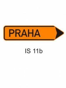 IS 11b - směrová tabule pro vyznačení objížďky