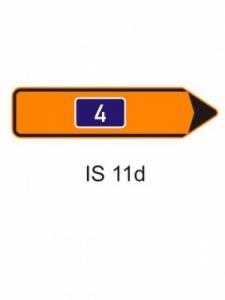 IS 11d - směrová tabule pro vyznačení objížďky