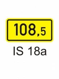 IS 18a - kilometrovník
