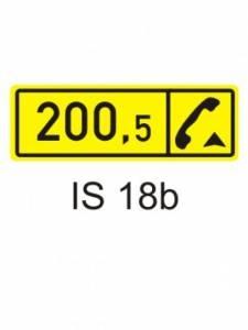 IS 18b - kilometrovník