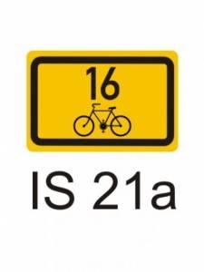 IS 21a - směrová tabulka pro cyklisty