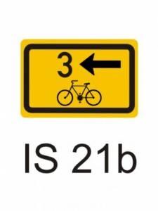 IS 21b - směrová tabulka pro cyklisty