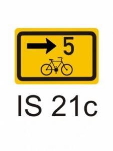 IS 21c - směrová tabulka pro cyklisty