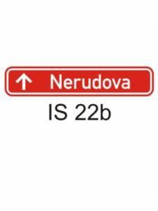 IS 22b - označení názvu ulice