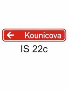 IS 22c - označení názvu ulice