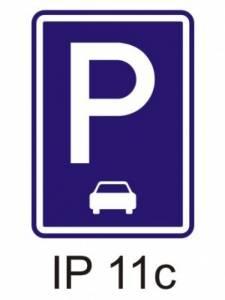 IP 11c - parkoviště (podélné stání)