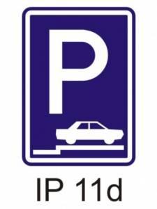 IP 11d - parkoviště (stání na chodníku šikmé nebo kolmé)