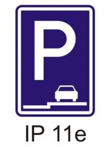 IP 11e - parkoviště (stání na chodníku podélné)