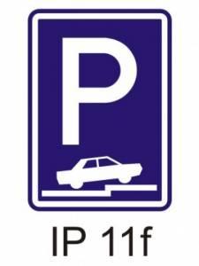 IP 11f - parkoviště (částečné stání na chodníku kolmé nebo šikmé)