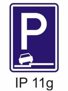 IP 11g - parkoviště (částečné stání na chodníku podélné)