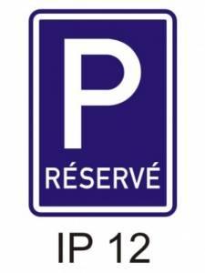 IP 12 - vyhrazené parkoviště