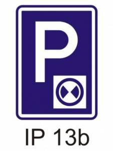 IP 13b - parkoviště s parkovacím kotoučem