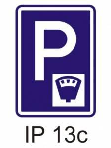 IP 13c - parkoviště s parkovacím automatem