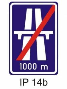 IZ 1b - dálnice - konec